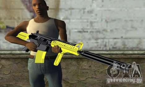 Yellow M4A1 для GTA San Andreas третий скриншот