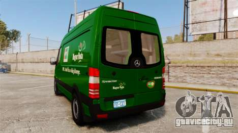 Mercedes-Benz Sprinter 2500 2011 Hungarian Post для GTA 4 вид сзади слева