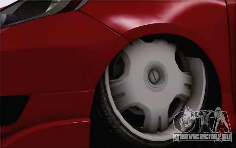 Honda Jazz RS DUB 2010 для GTA San Andreas вид сзади слева