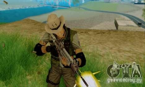 Resident Evil Apocalypse S.T.A.R.S. Sniper Skin для GTA San Andreas второй скриншот