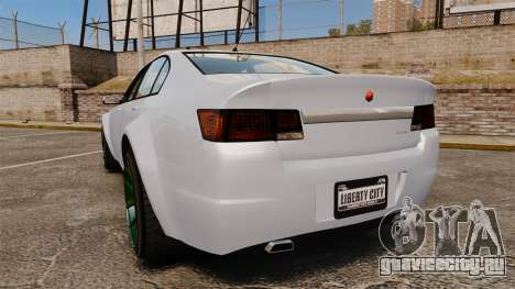 GTA V Cheval Fugitive new wheels для GTA 4 вид сзади слева