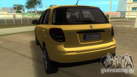 Suzuki SX4 Sportback для GTA Vice City вид сзади слева