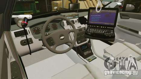 Chevrolet Impala 2010 LS Unmarked K9 Unit [ELS] для GTA 4 вид сзади