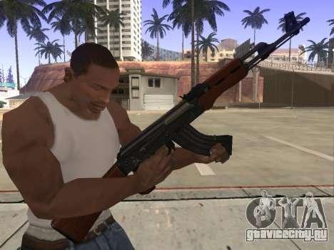АК-47 для GTA San Andreas пятый скриншот