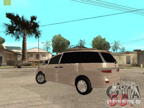 Toyota Estima KZ Edition 4wd для GTA San Andreas вид сзади