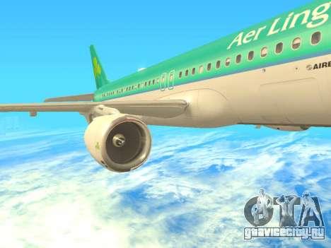 Airbus A320-200 Aer Lingus для GTA San Andreas вид сбоку