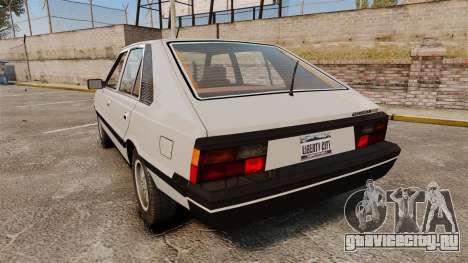 FSO Polonez 1500 для GTA 4 вид сзади слева