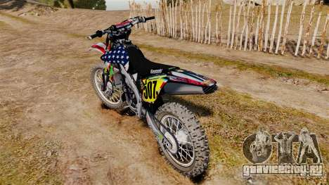 Kawasaki KX250F Monster KX USA для GTA 4 вид справа