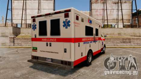 Brute Ambulance v2.1-SH для GTA 4 вид сзади слева