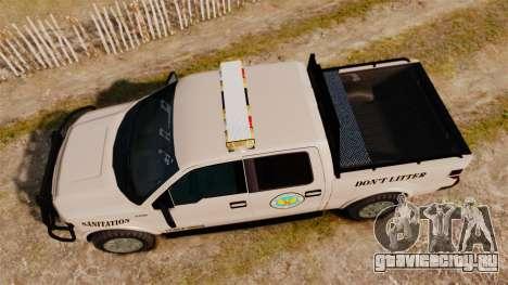 Ford F-150 2010 Liberty City Service Truck [ELS] для GTA 4 вид справа