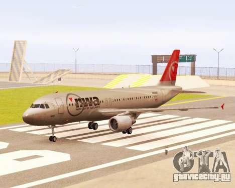 Airbus A320 NWA для GTA San Andreas