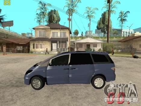Toyota Estima KZ Edition 4wd для GTA San Andreas вид слева