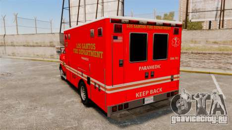 Brute LSFD Paramedic для GTA 4 вид сзади слева