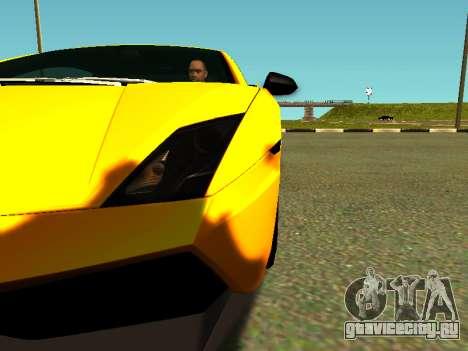 Lamborghini Gallardo Super Trofeo Stradale для GTA San Andreas вид изнутри