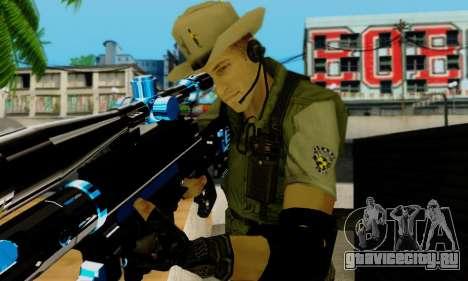 Resident Evil Apocalypse S.T.A.R.S. Sniper Skin для GTA San Andreas восьмой скриншот