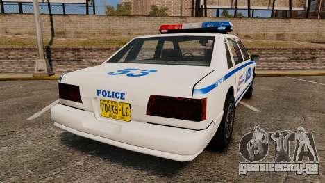 GTA SA Police Cruiser LCPD [ELS] для GTA 4 вид сзади слева