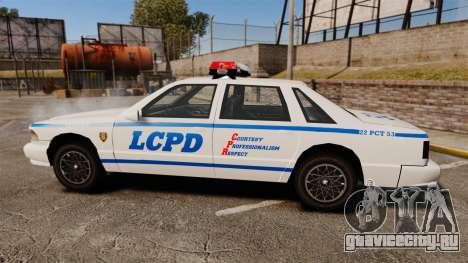 GTA SA Police Cruiser LCPD [ELS] для GTA 4 вид слева