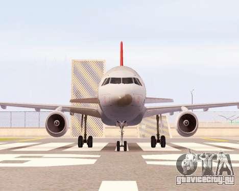 Airbus A320 NWA для GTA San Andreas вид слева