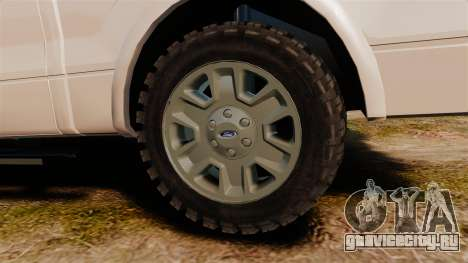 Ford F-150 2010 Liberty City Service Truck [ELS] для GTA 4 вид сзади