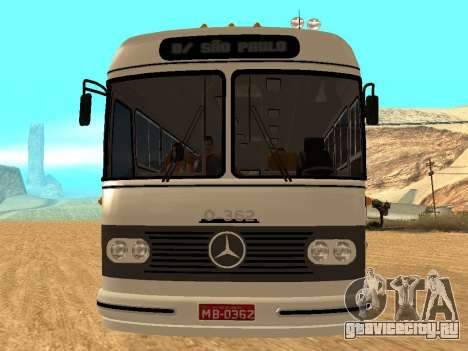 Mercedes Benz Mb O362 для GTA San Andreas вид сзади