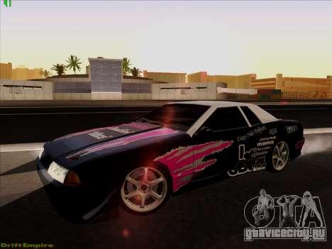 Винилы для Elegy для GTA San Andreas вид сзади