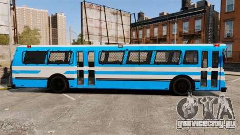 Brute Bus Japanese Police [ELS] для GTA 4 вид слева