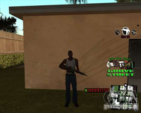 C-HUD West Side Grove Street для GTA San Andreas