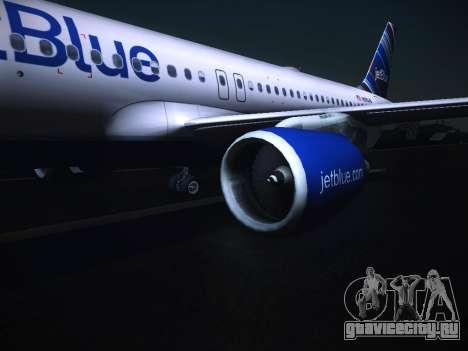 Airbus A320 JetBlue для GTA San Andreas вид справа