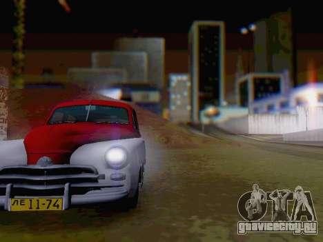 ГАЗ М-20 Победа для GTA San Andreas вид изнутри
