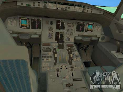 Airbus A320-200 Aer Lingus для GTA San Andreas салон