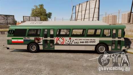 Иранский раскрас автобуса для GTA 4 вид слева