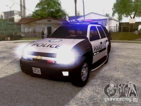 Chevrolet TrailBlazer Police для GTA San Andreas вид слева