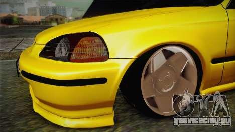 Honda Civic Edit Mehmet ALAN для GTA San Andreas вид справа