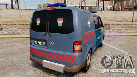 Volkswagen Transporter T5 Hungarian Police [ELS] для GTA 4 вид сзади слева