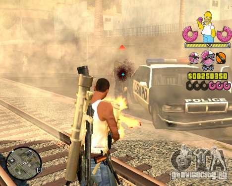 C-HUD Mr. Simpson для GTA San Andreas третий скриншот