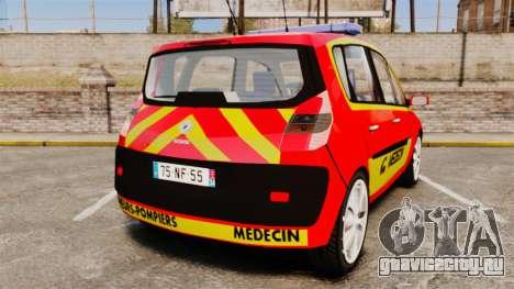 Renault Scenic Medicin v2.0 [ELS] для GTA 4 вид сзади слева