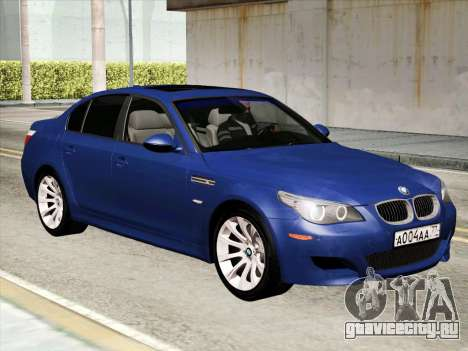 BMW M5 E60 2010 для GTA San Andreas вид слева