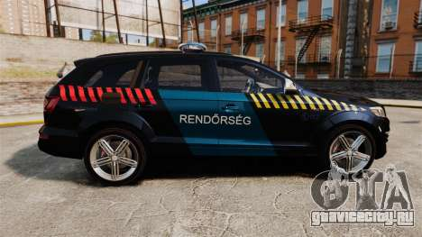 Audi Q7 Hungarian Police [ELS] для GTA 4 вид слева