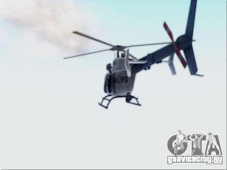 Bell 407 SAPD для GTA San Andreas вид сзади слева