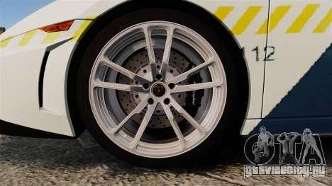 Lamborghini Gallardo Hungarian Police [ELS] для GTA 4 вид сзади