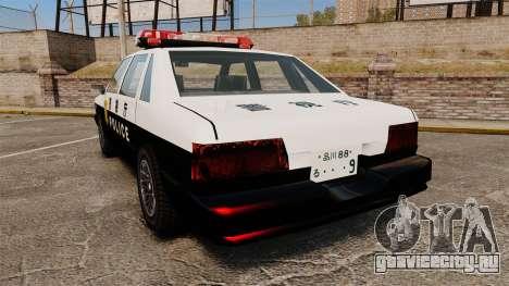 GTA SA Japanese Police Cruiser [ELS] для GTA 4 вид сзади слева