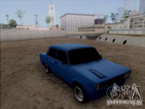 ВАЗ 2107 для GTA San Andreas вид изнутри