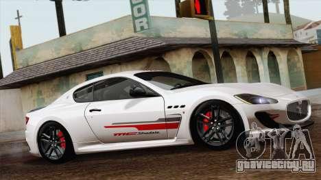 Maserati GranTurismo MC Stradale для GTA San Andreas вид сзади слева