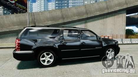 Chevrolet Suburban 2008 FBI [ELS] для GTA 4 вид слева