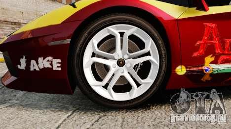 Lamborghini Aventador LP700-4 2012 [EPM] Jake для GTA 4 вид сзади