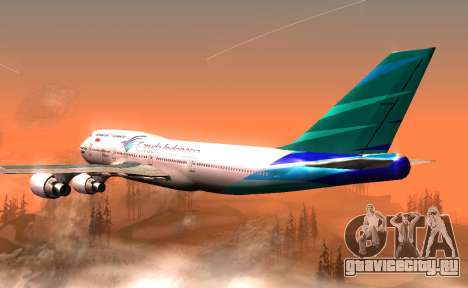Boeing 747-400 Garuda Indonesia для GTA San Andreas вид справа
