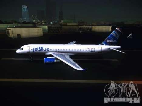Airbus A320 JetBlue для GTA San Andreas вид слева