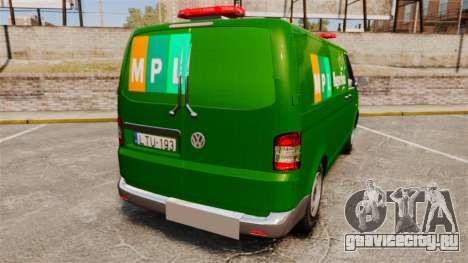 Volkswagen Transporter T5 Hungarian Post [ELS] для GTA 4 вид сзади слева