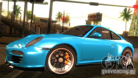 Porsche 911 Carrera GTS 2011 для GTA San Andreas вид сзади