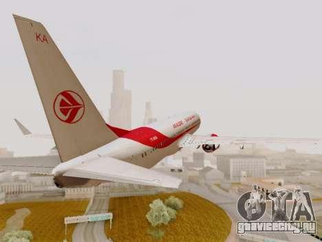 Boeing 737-800 Air Algerie для GTA San Andreas вид изнутри